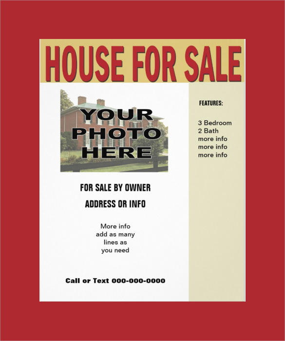 13 house for sale flyer templates sample templates. Black Bedroom Furniture Sets. Home Design Ideas