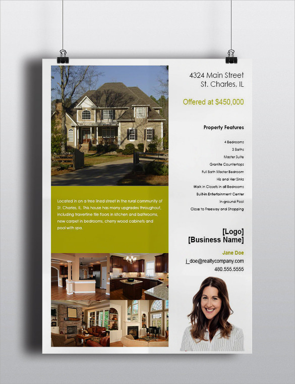 printable house for sale flyer
