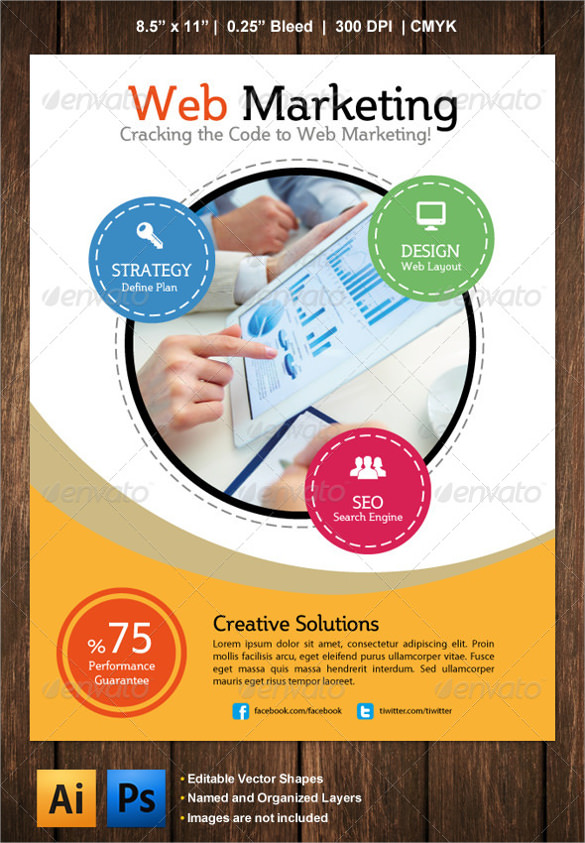 web marketing flyer