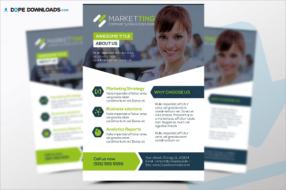 editable marketing flyer