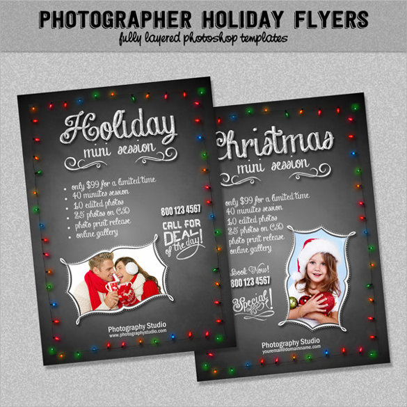 photographer holiday marketing flyer