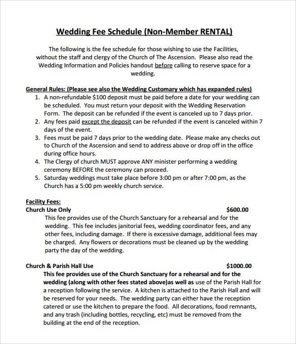 Wedding Schedule Template U2013 9+ Download Documents In PDF Sample U2026