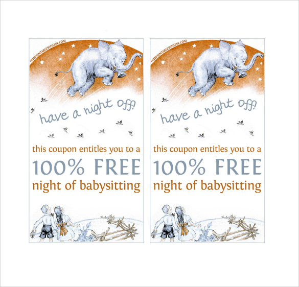search results for free babysitting certificate christmas