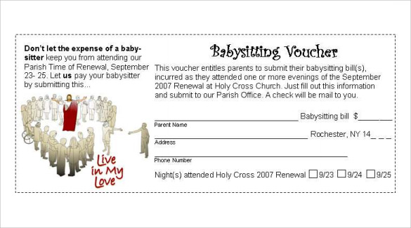 Babysitting Voucher Template 5 Download Documents In PSD PDF