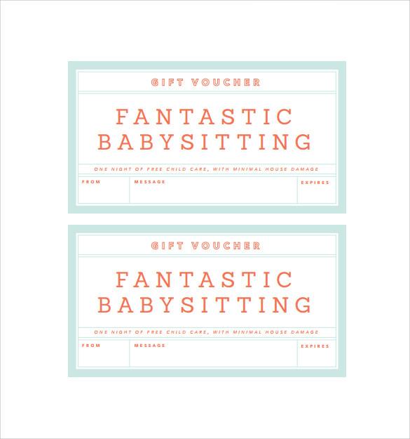 free babysitting gift certificate template - pin sample babysitting coupons baby sitting ajilbabcom
