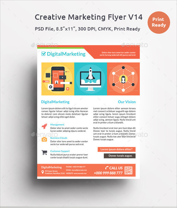 creative marketing flyer