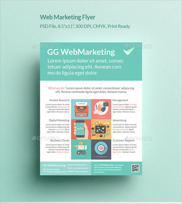 example of web marketing flyer