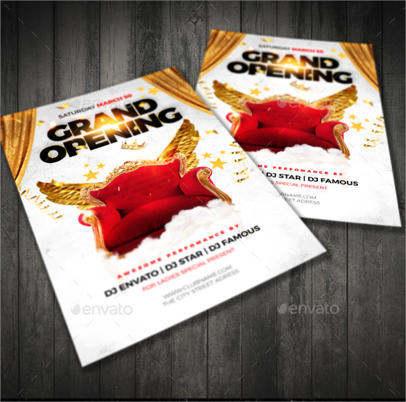 Grand Opening Flyer Template - Hlwhy