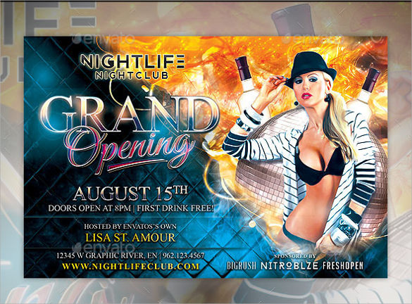 psd grand opening flyer