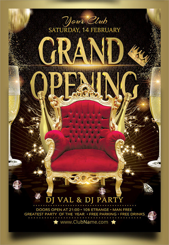 Grand Opening Flyer Templates -15+ Download Documents In Vector
