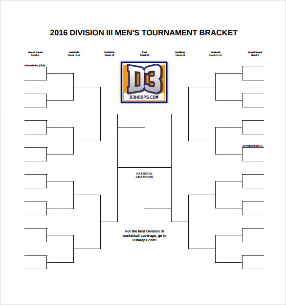 Tournament bracket template 8 download documents in pdf for Game bracket template