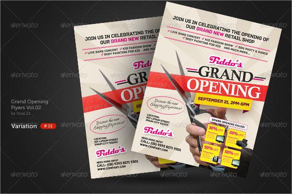 fabalous grand opening flyer