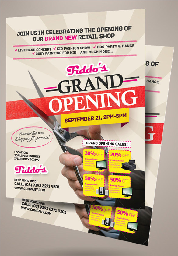 16 Grand Opening Flyer Templates Sample Templates