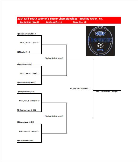 tournament bracket template free pdf