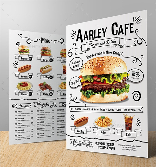 Sample Cafe Menu Template 19 Download Documents in PDF PSD – Sample Cafe Menu Template