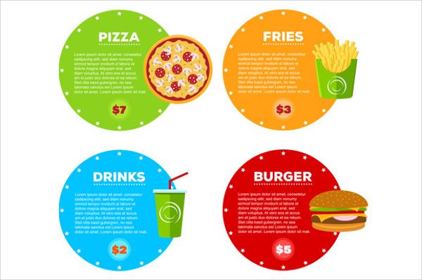 elegant fast food cafe menu template