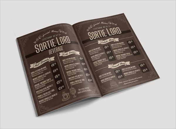 awesome cafe menu template