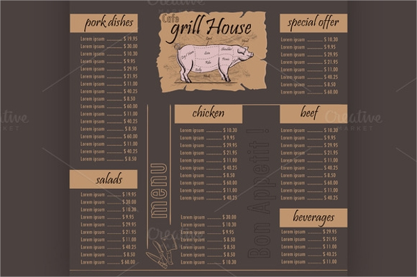 wondrous cafe menu template