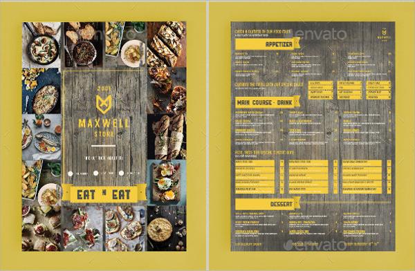 simple cafe menu template1