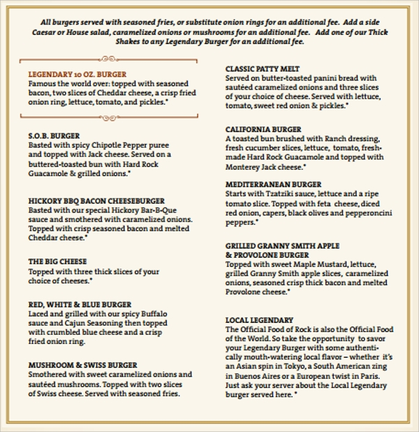 amazing cafe menu template