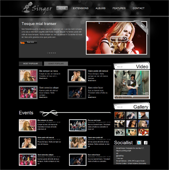 17  Singers Joomla Themes   Templates Sample Templates 5HGKZVsg