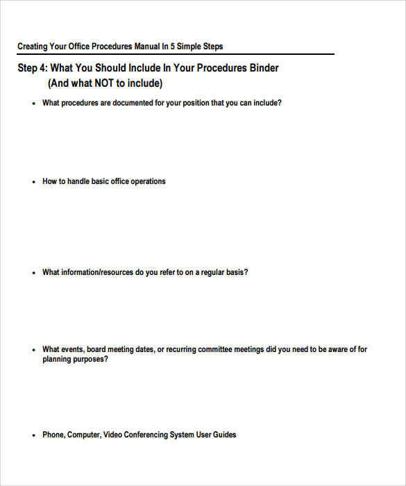Desk Procedures Template: FREE 8+ Sample Office Manual In PDF
