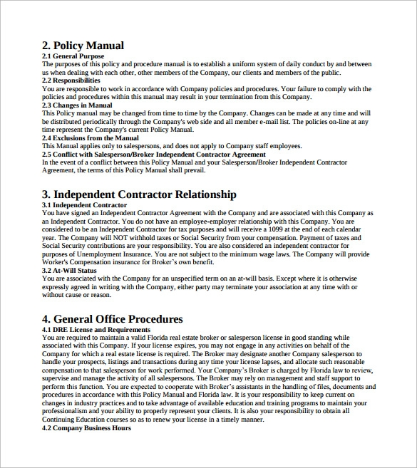 9 office manual samples sample templates for Dental office manual template