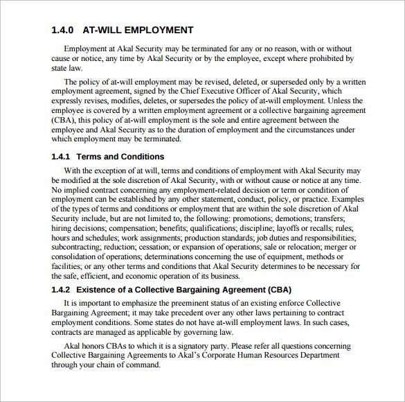 employee manual free