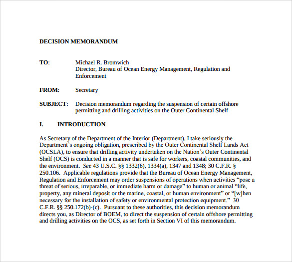 Doc495640 Template for a Memorandum Free Memorandum Template – Template for a Memorandum