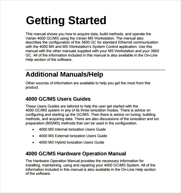 9 operations manual samples sample templates for It operations manual template
