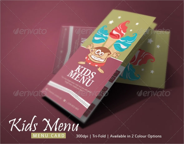 Sample Kids Menu Template 19 Download Documents in PSD PDF – Menu Templates for Kids