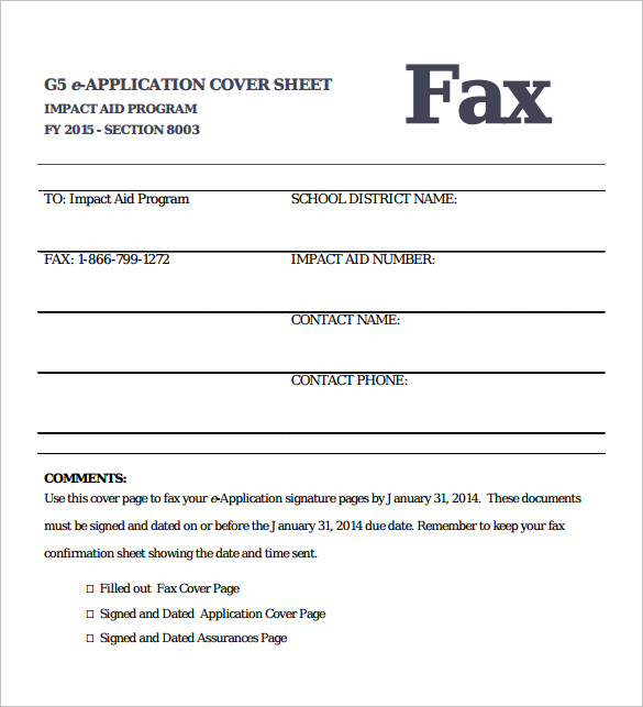 Sample Fax Cover 8 Documents in PDF – Fax Cover Example