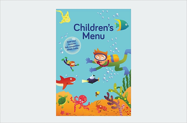 dazzling kids menu template