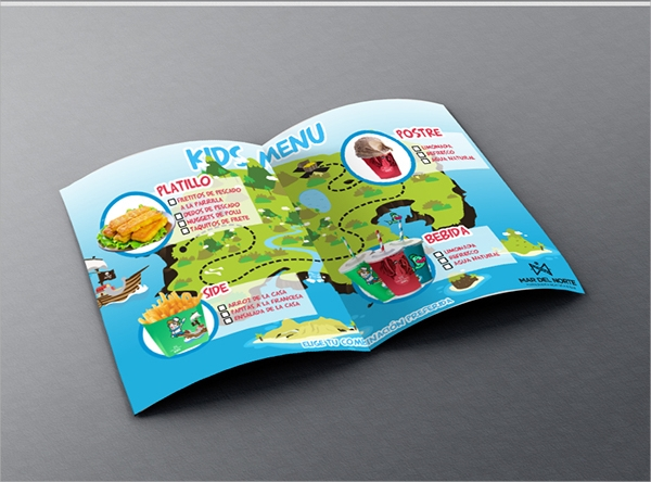 wondrous kids menu template