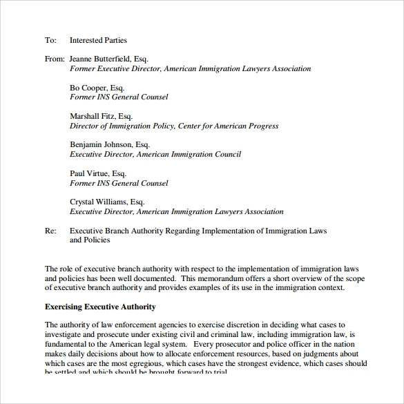 Sample Legal Memo Template 10 Free Documents in PDF – Legal Memo