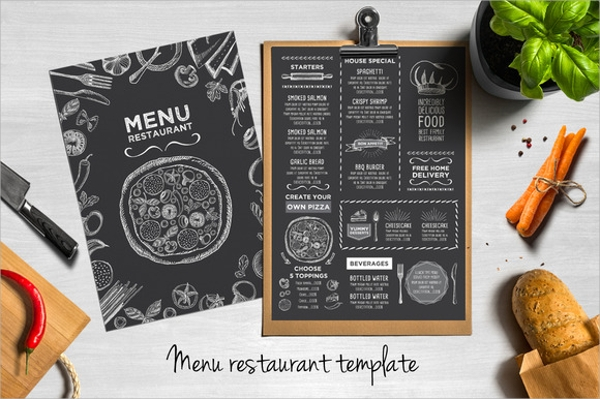 Sample Party Menu Template   Download Documents In Psd Pdf