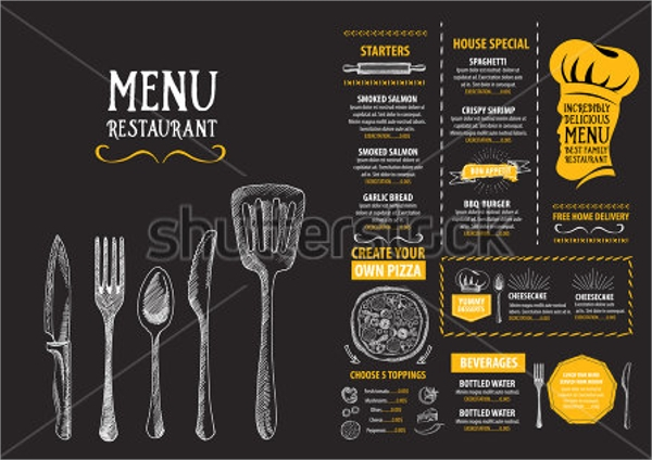 remarkable vector party menu template