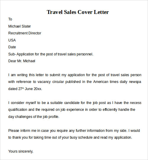 cover letter examples for sales sample