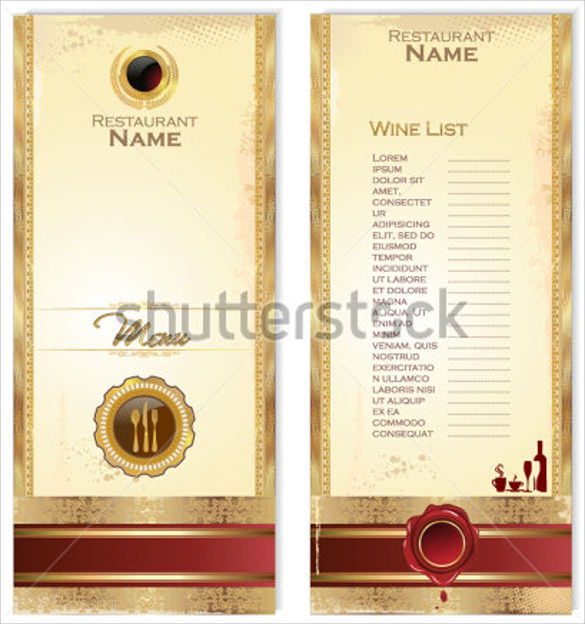 restaurant wine menu