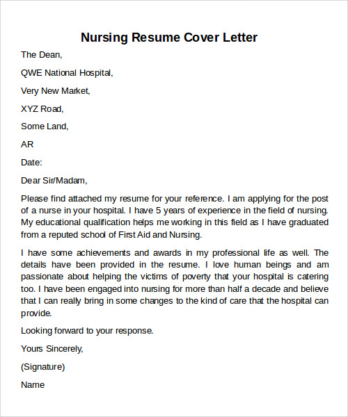 A Cover Letter For A Resume: FREE 12+ Cover Letter Samples In MS Word
