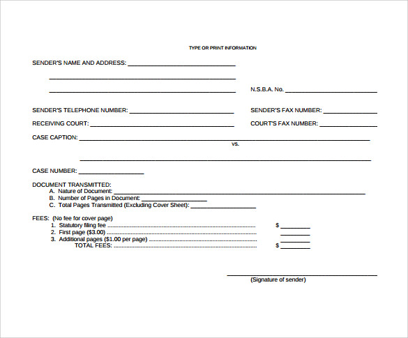 downloadable blank fax cover sheet