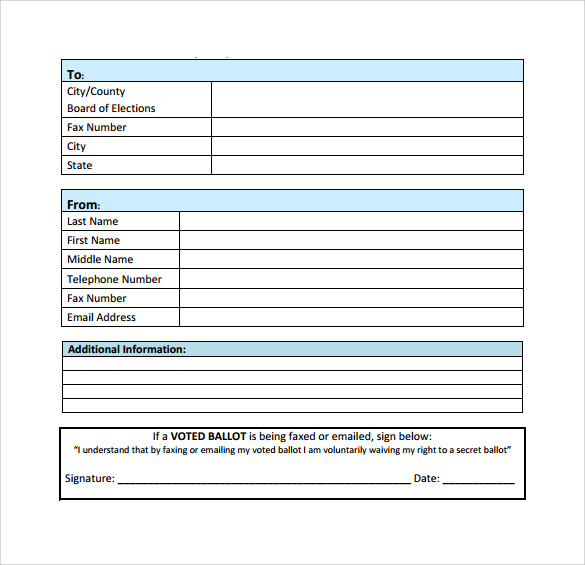 Blank Fax Cover Sheets