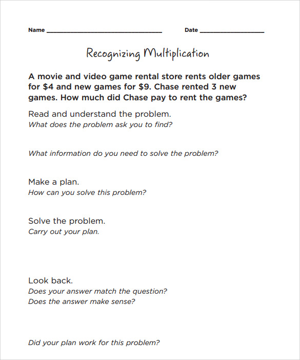 Sample Long Multiplication Worksheets   Documents In Pdf