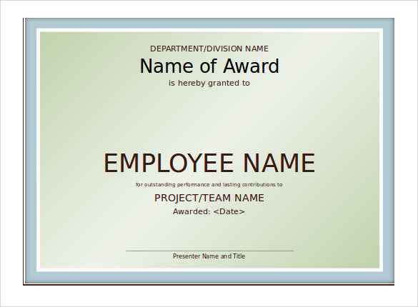 Sample Powerpoint Certificate Template   Free Documents In Ppt
