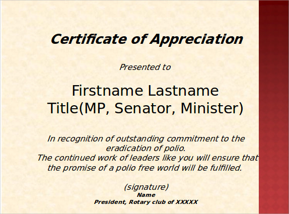 Certificate Of Appreciation1. Details. File Format  Best Employee Certificate Sample