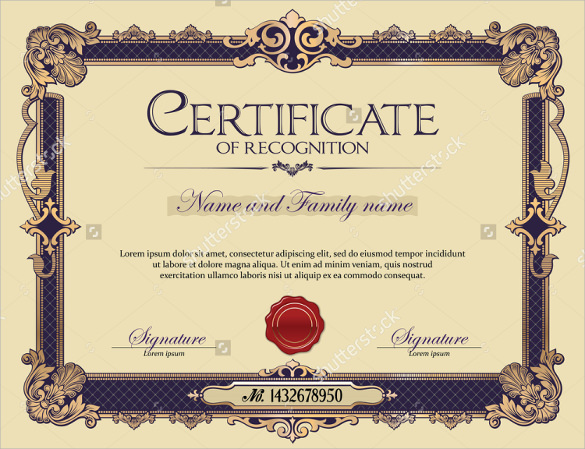 29 certificate of recognition templates sample templates