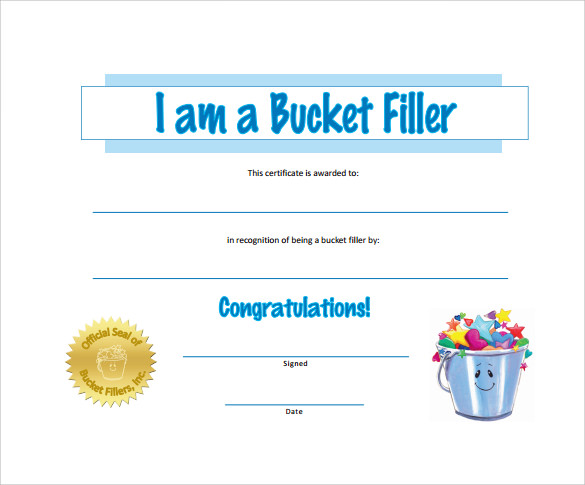 downloadable certificate of recognition