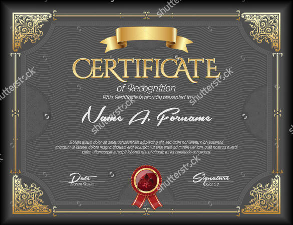 sample best certificate of recognition