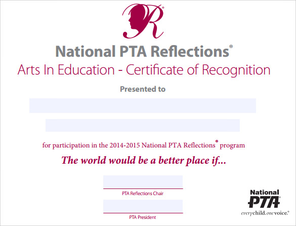 certificate of recognition download