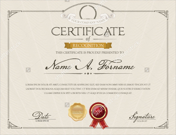 29  certificate of recognition templates